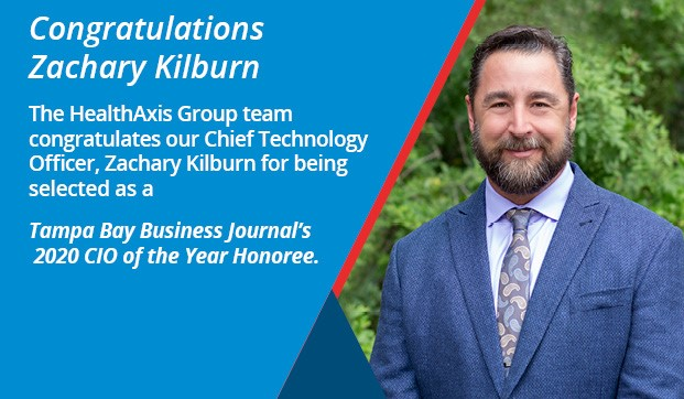 Zachary Kilburn, Named A 2020 Tampa Bay Business Journal CIO Of The Year Honoree!